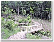 ウッドチップ道及び木橋(西茨城郡岩瀬町内)